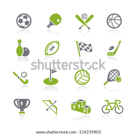 Sports Icons // Natura Series - stock vector