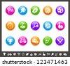 Sports Icons // Rainbow Series - stock vector
