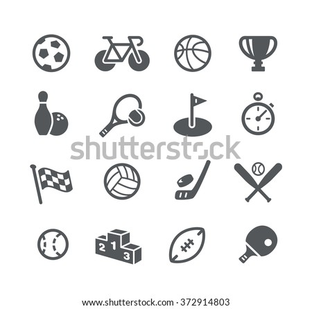 Sports Icons // Utility Series - stock vector