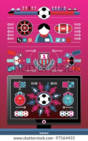 sports infographics - stock vector