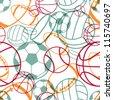 Sports seamless pattern. Vector illustration. - stock vector