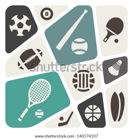 sports theme abstract background - stock vector
