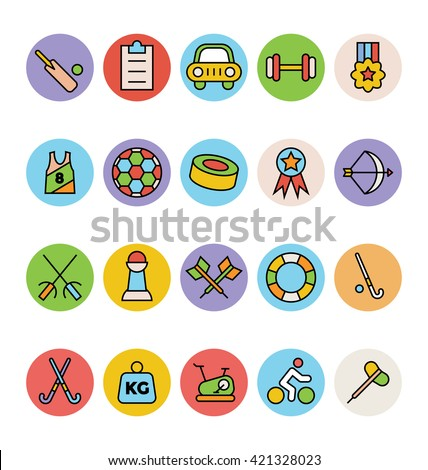 Sports Vector Icons 5 - stock vector