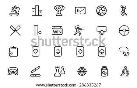 Sports Vector Line Icons 4  - stock vector