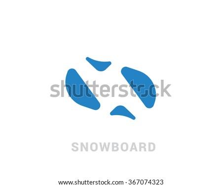 Sports vector logo in a modern flat design. - stock vector