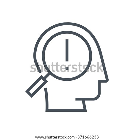Spot a problem icon suitable for info graphics, websites and print media and  interfaces. Line vector icon. Human face, head, line vector icon. - stock vector