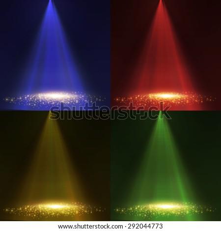 Spotlight collection. Vector illustration - stock vector