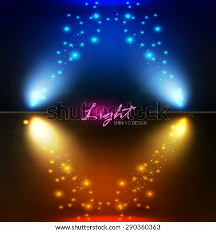 Spotlight frame. Vector illustration - stock vector