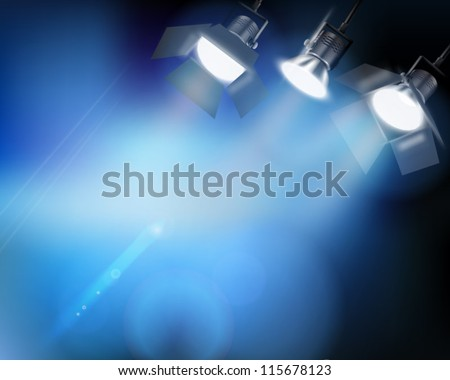 Spotlight from a performance. Vector illustration. - stock vector