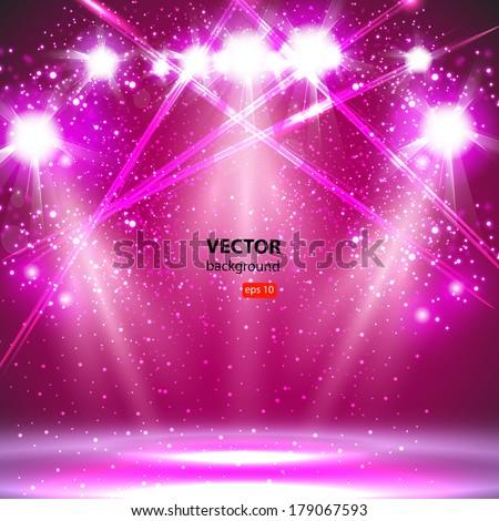 spotlight light background - stock vector