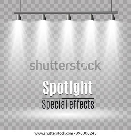 Spotlight. Vector illustration - stock vector