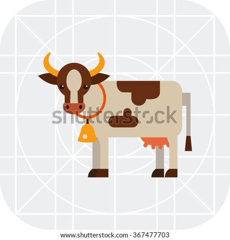 Spotted cow icon - stock vector