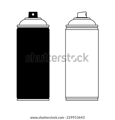 Spray Paint Silhouette Spray Paint Silhouette Stock