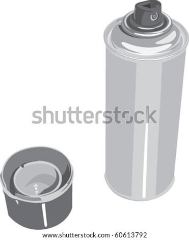 spray tin - stock vector