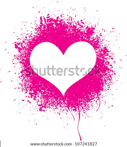 Sprayed heart - Vector illustration of a sprayed heart shape. - stock vector