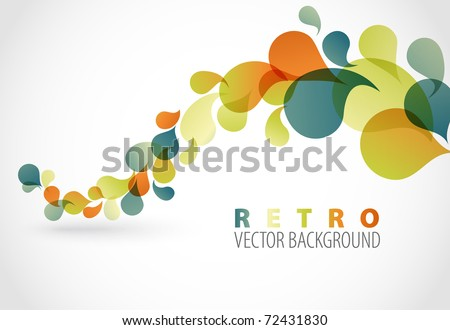 Spring Abstract floral background with place for your text (retro colors) - stock vector