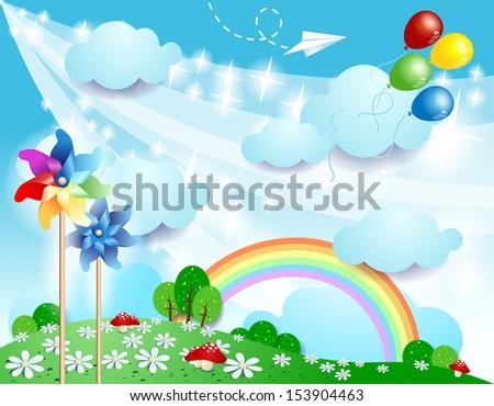 Spring background, vector - stock vector