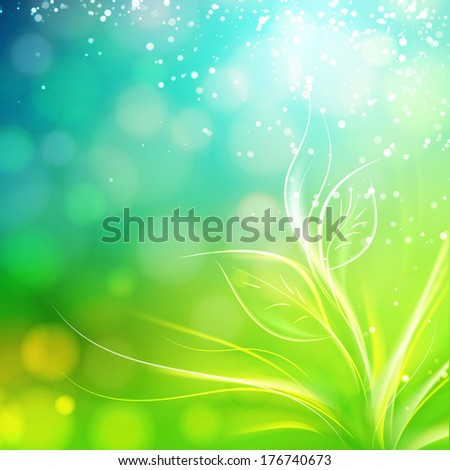 Spring background. Vector illustration. - stock vector