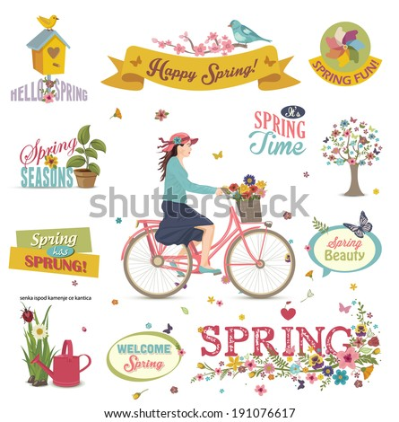 Spring Design Element - stock vector