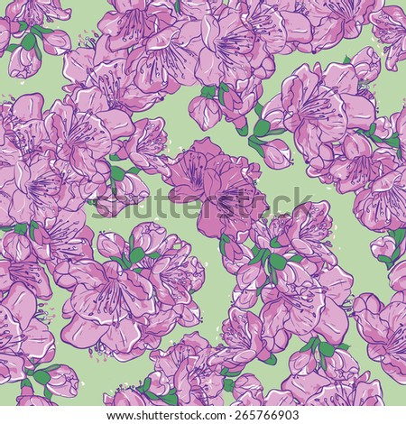 Spring flowers seamless pattern. Floral vector background - stock vector