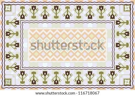 Spring Garden, Modern Carpet Design - stock vector