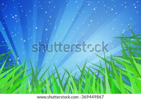 Spring Grass - stock vector