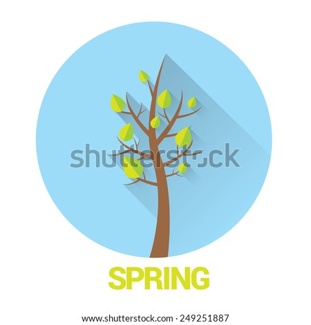 spring landscape vector illustration can be used for banner and posters. - stock vector
