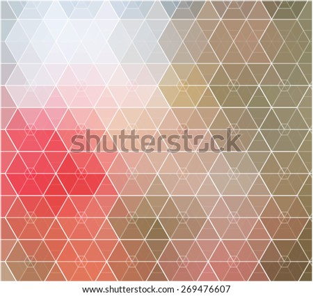 Spring mosaic color background. Vector illustration - stock vector