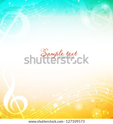 spring musical background - stock vector