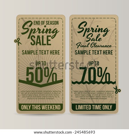 spring sale design, vector illustration eps10 graphic  - stock vector