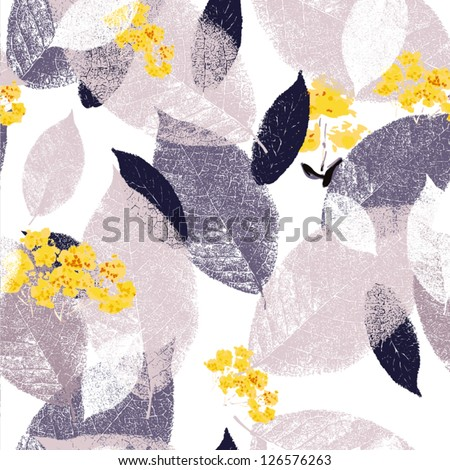 Spring.Seamless pattern with leaf  Romantic Flower Background - stock vector