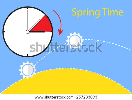 spring time change  - stock vector