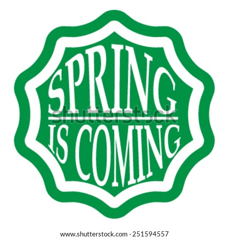 Spring Typography Sticker, Tag , Banner or Tag  . Vector Illustration .  - stock vector