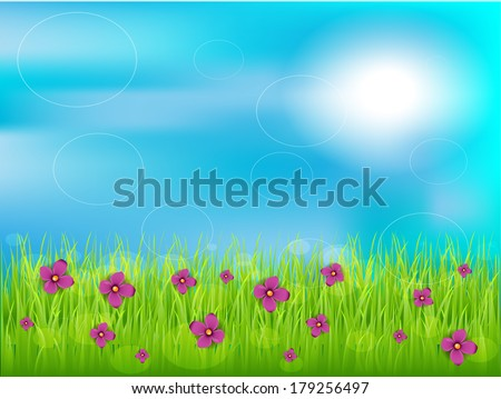 Spring with flowers/Spring - stock vector