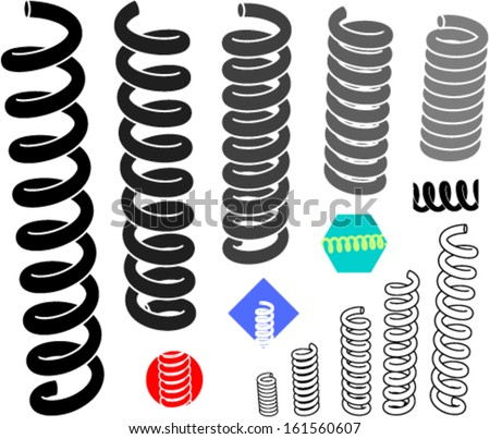 Springs - stock vector