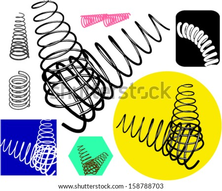 Springs set - stock vector