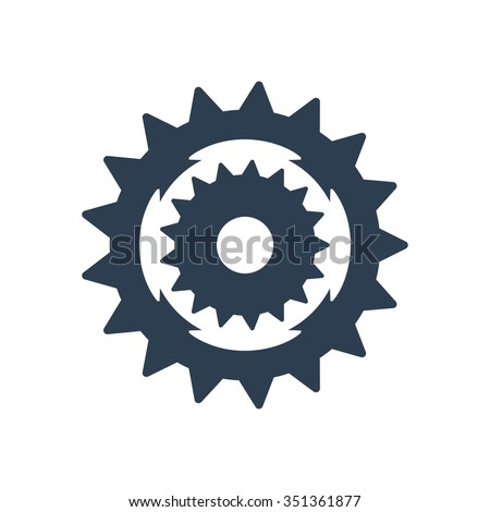 Sprocket bike icon - stock vector