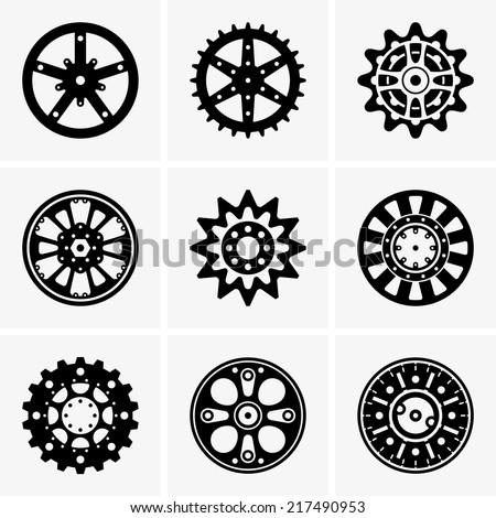 Sprocket wheel - stock vector