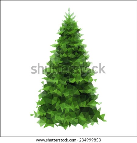 spruce on a white background made mosaic - stock vector