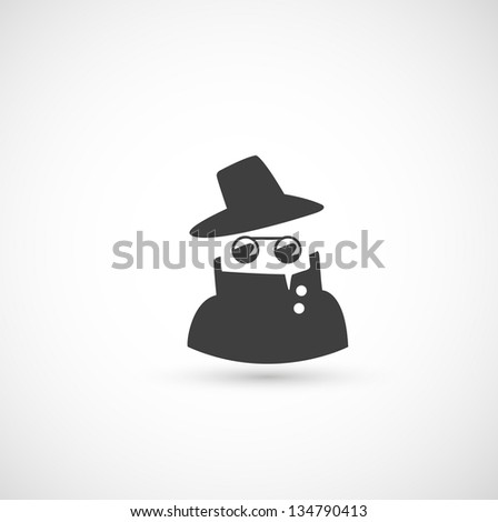 spy icon  vector - stock vector