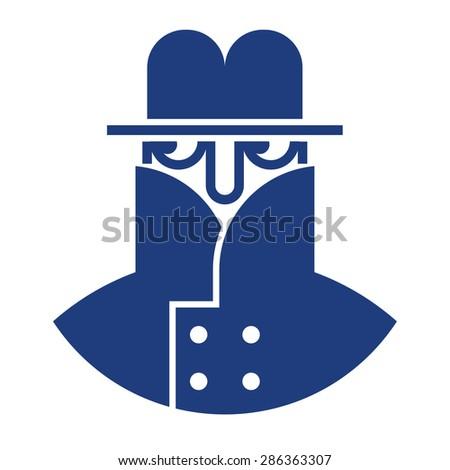 Spy image - hiding secret private detective - stock vector