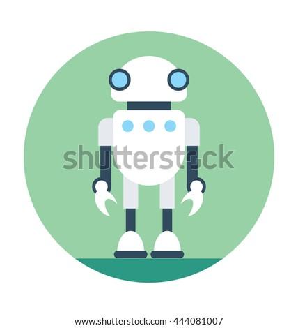 Spy Robot Vector Icon - stock vector