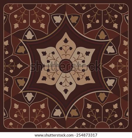 Square Arabesque Vintage Ornamental Frame - stock vector