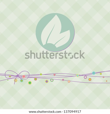 Square banner with leaf. EPS 8 vector - stock vector