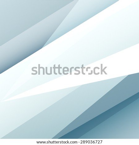 Square blue and grey abstract background with white graphic elements. Vector illustration. - stock vector