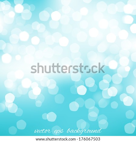 Square blue blurred background with graphic elements. Vector version. - stock vector