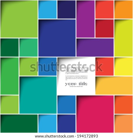 Square color background - stock vector