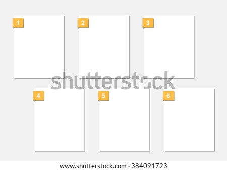 square design of storyboard template is convenience to present the storyline to client. A4 design of paper ratio is easy to fit for print out. - stock vector
