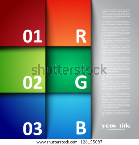 square design template - stock vector