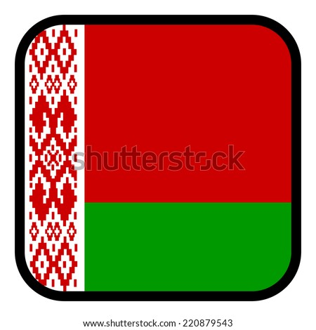 Square flag button series - Belarus - stock vector